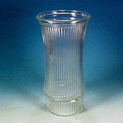 Vintage HOOSIER GLASS Tall Flower Vase Ribbed Design 4089-B #3B