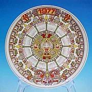 WEDGWOOD Tonatiuh Aztec Sun Plate Charger 1977 Calendar Plate Collectible