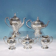 Antique PAIRPOINT SILVER Quadruple Silverplate Tea / Coffee Set #388