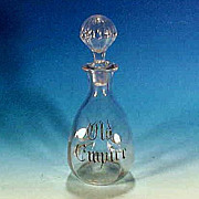"""Vintage Clear Glass """"OLD EMPIRE"""" Liquor or Wine Decanter Bottle Mid-Century"""