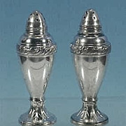 Vintage Silverplate LURALINE Salt & Pepper Shakers Lazer Luria & Sons