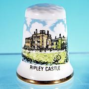 Souvenir Bone China Thimble Made in England RIPLEY CASTLE