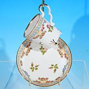 Vintage BAREUTHER Porcelain Footed Demitasse Teacup/ Tea Cup & Saucer Set - Bavaria, West Germany