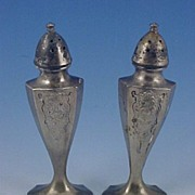 Vintage Silverplate SALT & PEPPER Shaker Set - Quaker #505