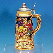 Vintage German-Style MUSICAL Beer Stein Tin Lid