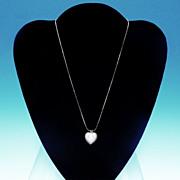 Vintage WEDGWOOD Pink JASPERWARE Heart Shaped Necklace Pendant Cupid