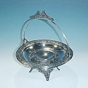 Antique Victorian Silver Silverplate TORONTO Bride's Basket Brides Basket Cake Basket Tazza