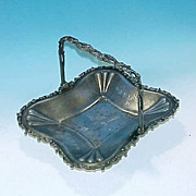 Antique Silver WALDORF Quadruple Silverplate Cake Dish Basket
