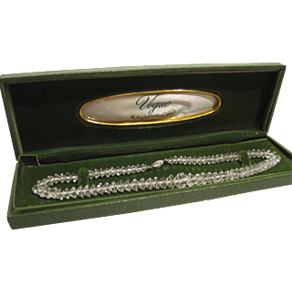 Vogue Crystal Glass Necklace in Box