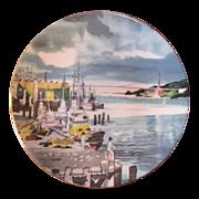 Vintage Dong Kingman & Royal Doulton Series-Ware, Fisherman's Wharf Collectible Plate