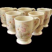 Vintage 1960's Ceramic FPC Floral Mugs