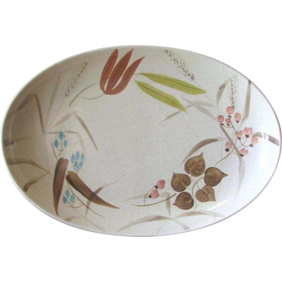 Vintage Redwing Pottery Random Harvest Serving Platter