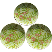 Vintage Mikasa Country Fashions Foliage Salad Plates - Set of 6