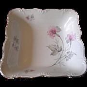 Vintage 1940's Edelstein Bavaria Silver Trimmed Floral Serving Bowl