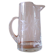 Vintage Poinsettia Cocktail Pitcher