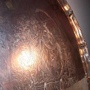 Sterling Silver Footed Tray   London 1775   John Carter, maker   Elaborate Engraving