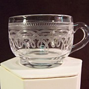 Needle Etched Punch Cup   19th Century
