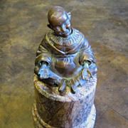 Vintage Bronze Oriental Seated Nodder