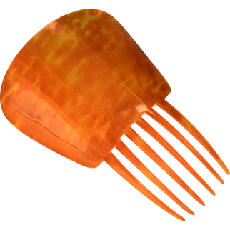 Large Late Victorian Dyed Horn Mantilla Comb