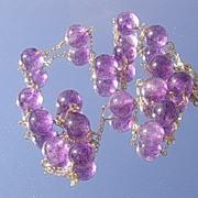 14kt Multi Amethyst Bead  Necklace