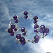 Sterling Amethyst/Freshwater Pearl Necklace