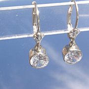 Sterling Silver Vivacious Cubic Zirconia Dangle Earrings