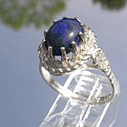 Sterling Lapis Lazuli Ladies Ring
