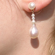 14kt Multi Freshwater Pearl Dangle Earrings