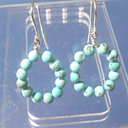 Sterling Multi Turquoise Dangle Earrings