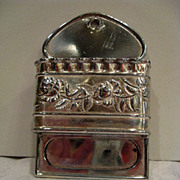 Meridian Silver Plate Double Match Holder