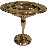 International Sterling Silver Footed Compote in Courtship Pattern