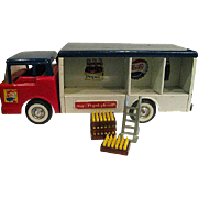 NyLint Pressed Steel Pepsi Truck complete with dollie hand cart and pepsi cases