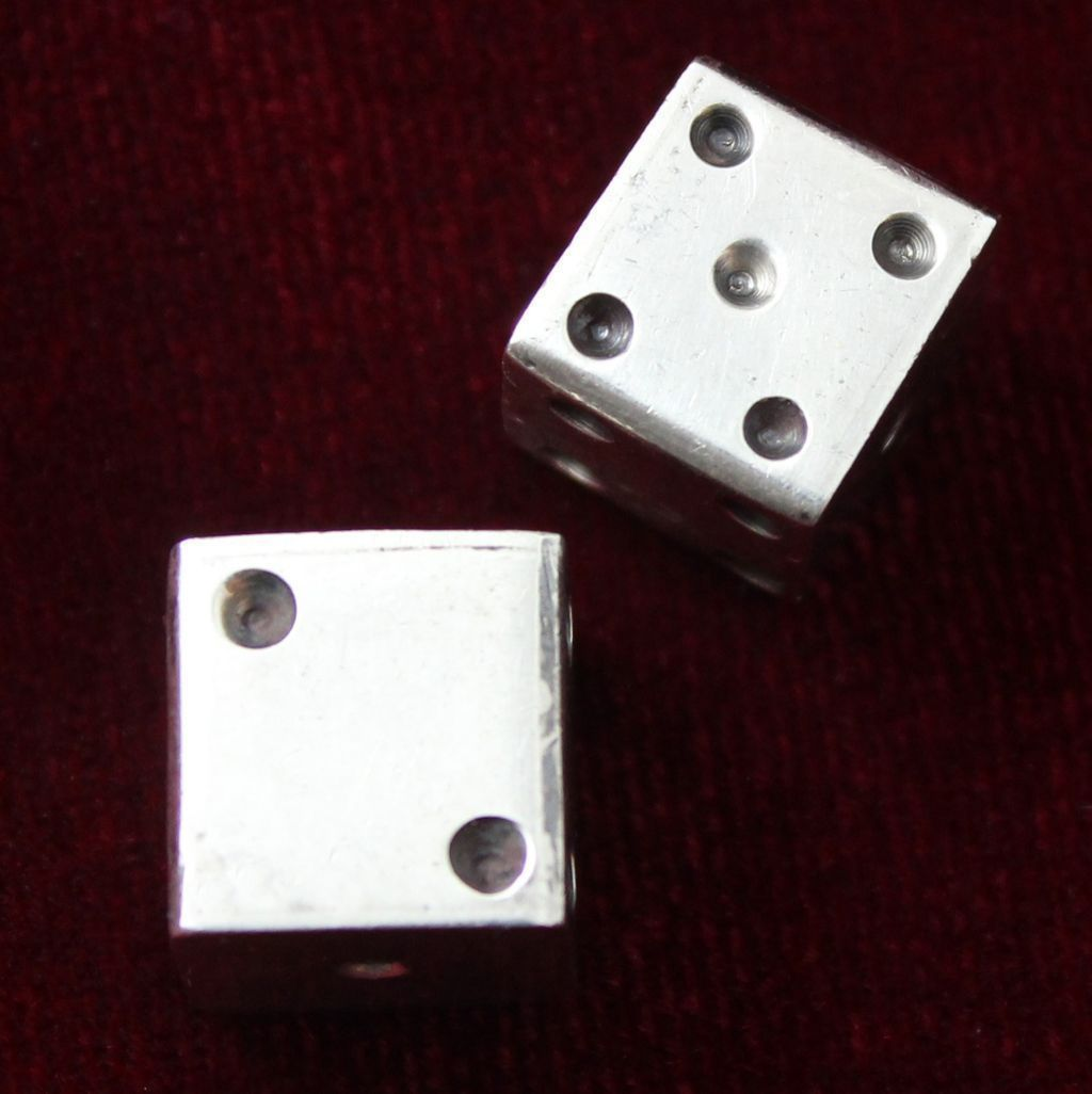 Sterling Dice Vintage Solid Silver From Mexico Perfect For Game Room Or Den