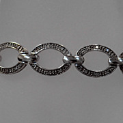 Exquisite Vintage Sterling Bracelet With 72 Diamonds Marked HN 925