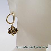 Handwoven Beaded Crystal Earrings