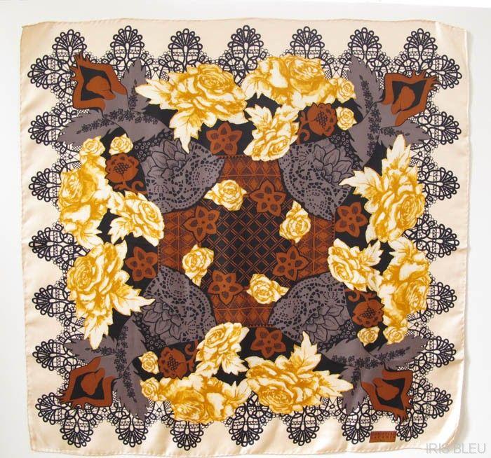 Christian Lacroix Paris 100% pure Silk Scarf vintage ballerina floral pattern