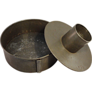 Early 20th C Steel Cake Pan
