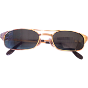 Rayban B&L gold plated frame and black lenses new old stock sunglasses