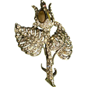STARET 40s Silver tulip Pin Brooch