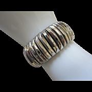Vintage Silver Tone Expansion Bracelet, Signed