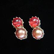 Vintage Marvella Faux Pearl Earrings