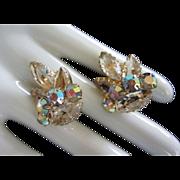 Vintage Juliana Champagne and AB Rhinestone Earrings