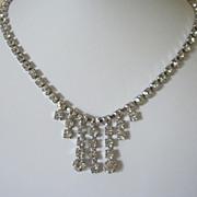 Vintage Clear Sparkling Rhinestone Choker Necklace
