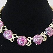1/2 OFF!  Vintage Purple Confetti Lucite Choker Necklace