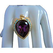 Elizabeth Taylor for Avon Egyptian Falcon Ring, Size 12