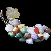 Vintage Semi Precious Stones Cluster of Grapes