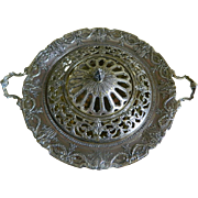 Meriden Britannia Co. International Silver Co. Silver Plated Centerpiece with Frog Cover, 1898 - Early 1900