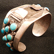 Watch Cuff with Turquoise Stones