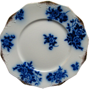 Staffordshire Flow Blue Grindley Gironde Plate