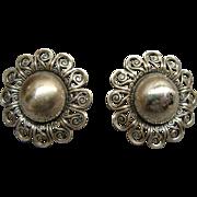 Vintage Pair Of Danecraft Sterling Silver earrings